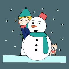 冬のスーさんとハナさん