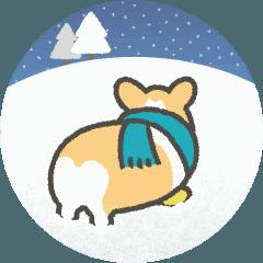 1コギの動く冬スタンプ
