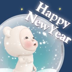 【動く】クマタオル【年末年始】冬