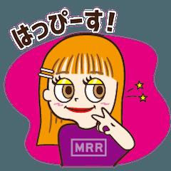 """生見愛瑠<めるる>の""""はっぴーす""""スタンプ"""