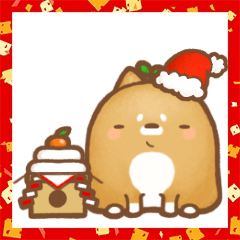 鉢植え犬はちーお正月+クリスマス鉢ー