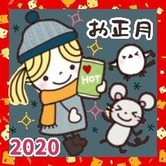 楽に使える日常スタンプ/2020年✿お正月