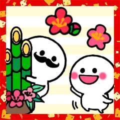 白くて丸い仲間たち♡ましゅまる&ひげ丸