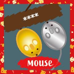 [LINEスタンプ] カスタムマウス風ネズミ