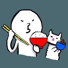白い人と猫のふぅこ2