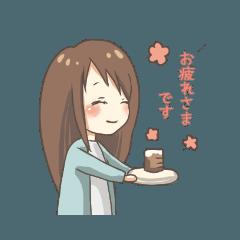 女の子スタンプ(敬語)