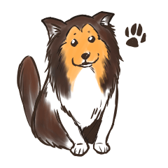 シェルティー犬のスタンプ