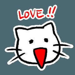 白猫のフランソワ・ボワーズはノンビリ猫3
