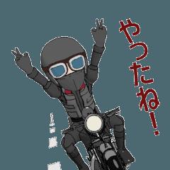 動くカフェレーサーライダー 2