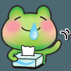 カエルのお天気【春・花粉症】