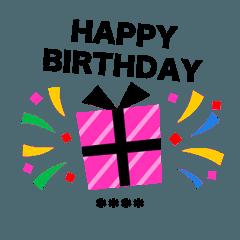 【相手の名前を入れてね★】誕生日&お祝い