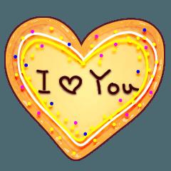 手作りクッキーで、メッセージ!