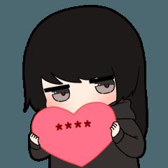 [LINEスタンプ] 無気力カップル-GIRL-【カスタムスタンプ】