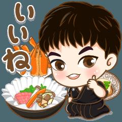 [LINEスタンプ] かわいい若い小西 セット2 (食べ物)
