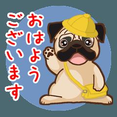 [LINEスタンプ] Pug パグ 普段使い(REMAKE) (1)