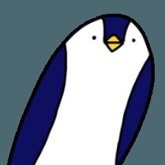無表情なペンギンさん。