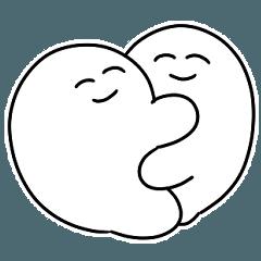 [LINEスタンプ] ゆるゆるカップルのスタンプさんたち