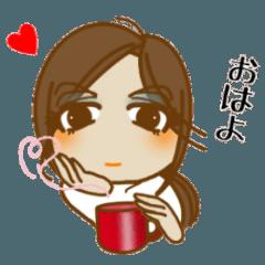 [LINEスタンプ] 怖いモン無し!「お茶目な あねしゃん」