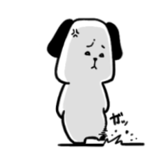 ぱんだっぽい犬