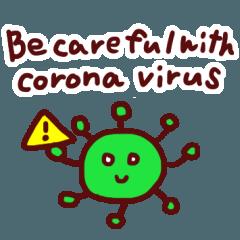 コロナウイルス予防スタンプ(英語版)