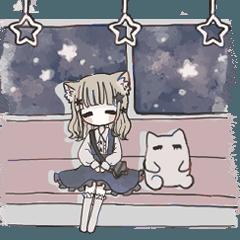 猫耳ちゃんとマシュマロさん