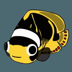 ばきばき泳ぐ熱帯魚 チョウチョウウオ