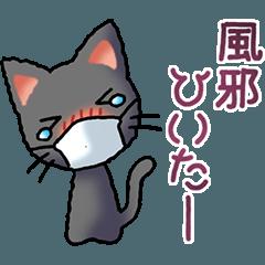 プチ猫その5 (黒)体調不良編