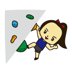 [LINEスタンプ] 野口啓代のクライミングライフ! (1)