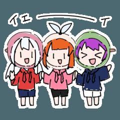 [LINEスタンプ] 3色スタンプ
