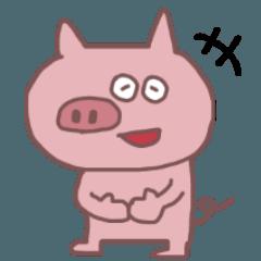 豚の日常スタンプ