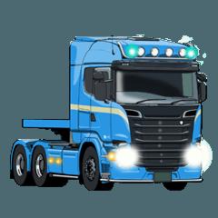 特大貨物を運ぶ陸送トレーラーのスタンプ#3