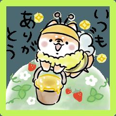 [LINEスタンプ] ほんわかしばいぬ・春