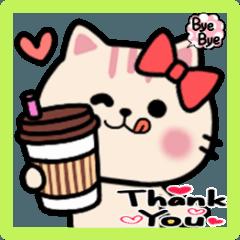 おしゃれ猫❤おもゆる可愛いねこスタンプ