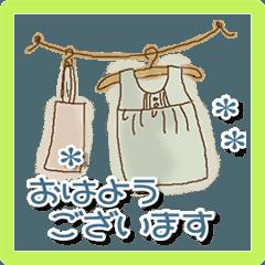 雑貨が好きな人のためのスタンプ〜挨拶〜