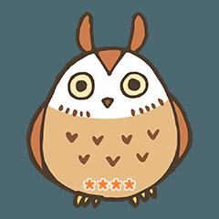 ウサギフクロウちゃんのカスタムスタンプ